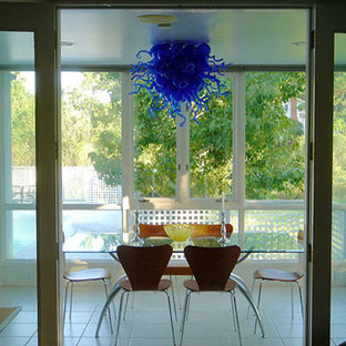 Custom Contemporary Glass-Blown Chandeliers