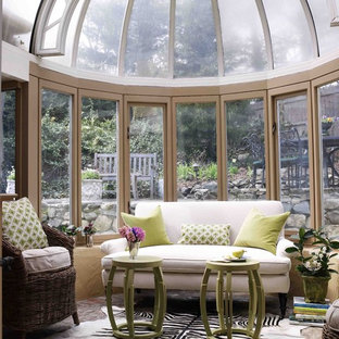 Sunroom   Victorian Sunroom Idea In New York With A Glass Ceiling
