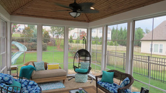 Deck and Patio with Fireplace