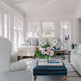 Inspiration for a beach style sunroom remodel in DC Metro