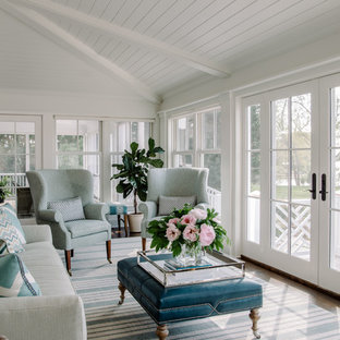 Example of a coastal sunroom design in DC Metro with a standard ceiling