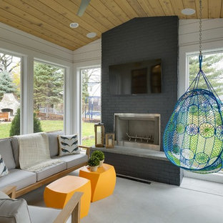 Inspiration for a transitional sunroom remodel in Minneapolis