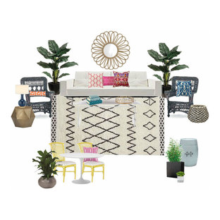 Eclectic Sunroom E-Design Mood Board
