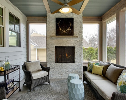 Sunrooms with fireplaces ideas pictures remodel and decor for Sunroom with fireplace designs
