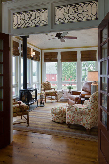Farmhouse Sunroom by KSF Architects