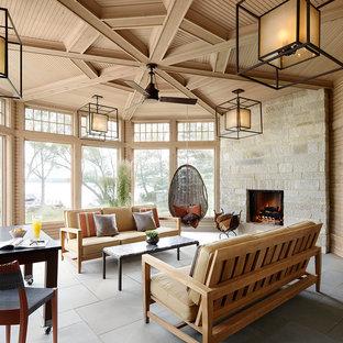 Fireplaces using Buechel Stone