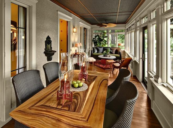 Traditional Sunroom by Amber Ranzau - haut haus, inc.