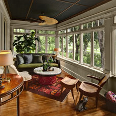 Traditional Sunroom by Amber Ranzau - haut haus, inc.