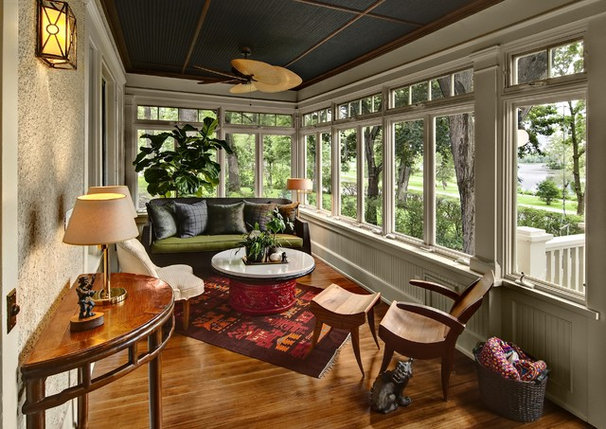 Traditional Sunroom Front Porch on Lake of the Isles