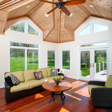 Contemporary Porch by Design Builders, Inc.