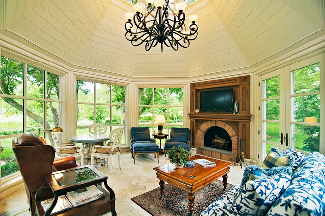 Traditional Sunroom by Dan Waibel Designer Builder