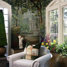 Eclectic Sunroom Boise Sun and Garden Room Aurbach Mansion Showhouse: