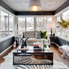 Eclectic Sunroom by Dwelling Designs