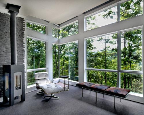 verglaste terrasse essbereich draußen
