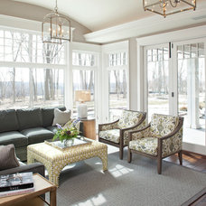 Traditional Sunroom by Eskuche Design