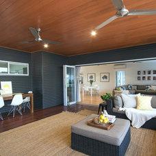 Beach Style Sunroom by Sam Davison Interiors