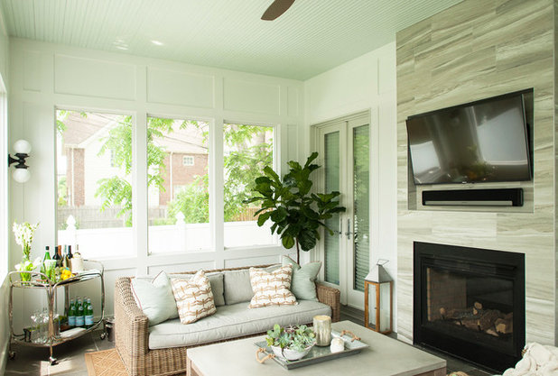 Transitional Sunroom by Callahan Interiors