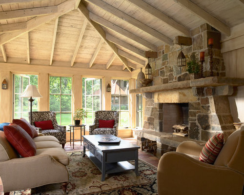 Sunrooms With Fireplaces Home Design Ideas Pictures