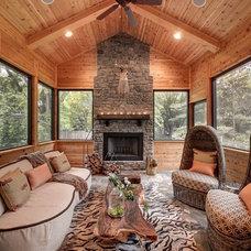 Rustic Sunroom by Habitat Architecture