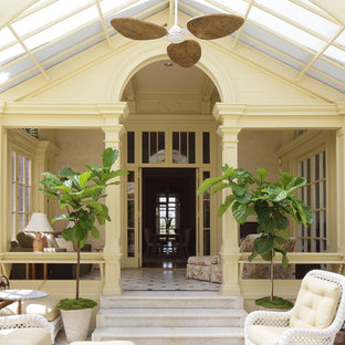 Sunroom - victorian sunroom idea in New York