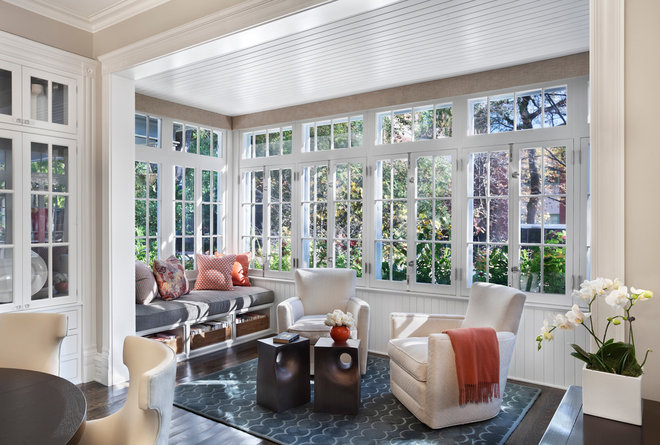 Transitional Sunroom by Tom Stringer Design Partners