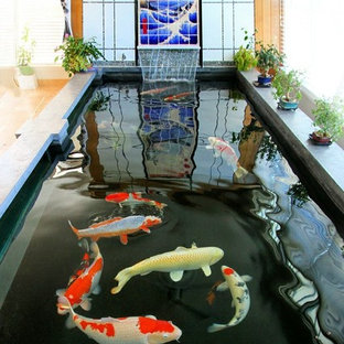Inspiration For A Large Asian Sunroom Remodel In New York Save Photo Indoor Koi Pond