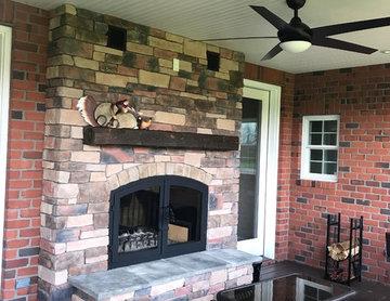 Indoor Outdoor Wood Burning Fireplace