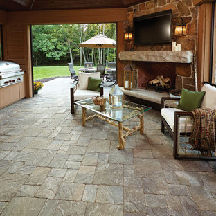Inside Out: Outdoor kitchen and living room