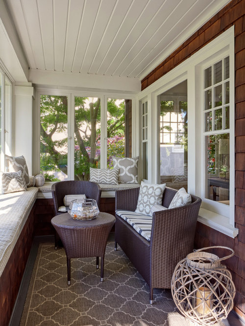 Inspiration For A Small Timeless Sunroom Remodel In San Francisco With A  Standard Ceiling