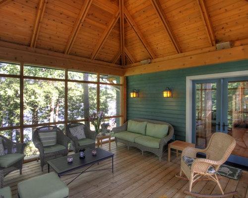 Rustic Toronto Sunroom Design Ideas Remodels Photos Houzz