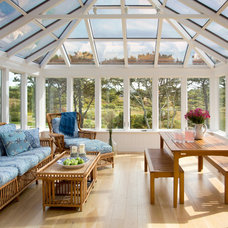 Beach Style Sunroom by Martha's Vineyard Interior Design