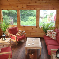 Rustic Sunroom by kevinallencarpentry.com