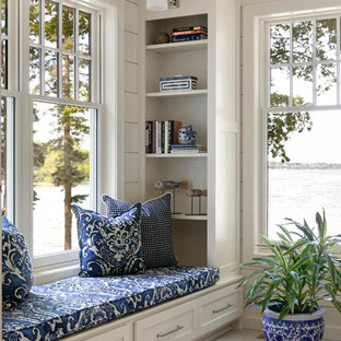 Example of a beach style sunroom design in Minneapolis