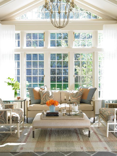 Traditional Sunroom by Karen Houghton Interiors