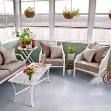 Contemporary Sunroom by Caroline Leemis Design