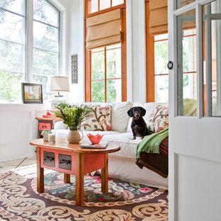 Sunroom - beach style sunroom idea in Charleston