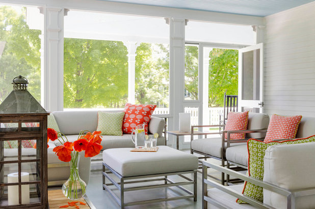 Transitional Sunroom by RAMSAY GOURD ARCHITECTS