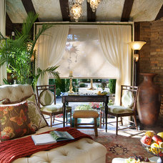 traditional sunroom by KARLA TRINCANELLO-CID - INTERIOR DECISIONS, INC.