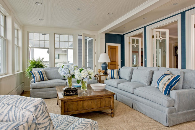 Beach Style Family Room by Anita Clark Design