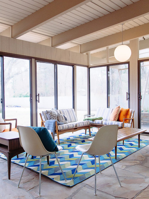 modern sunroom furniture. interesting furniture midcentury modern slate floor sunroom idea in grand rapids with a standard  ceiling throughout modern sunroom furniture n