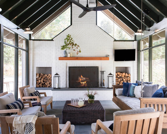 Farmhouse Sunroom Design Ideas, Remodels U0026 Photos | Houzz