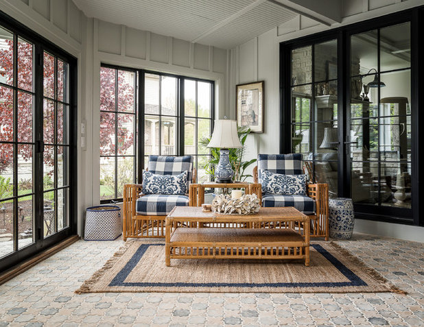 Farmhouse Sunroom by Picture Perfect House