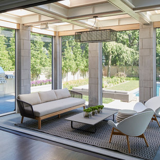 Inspiration for a contemporary sunroom remodel in Chicago