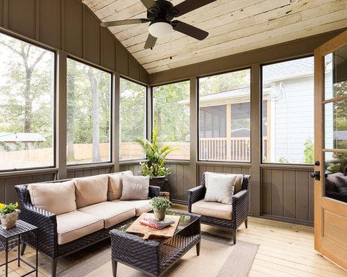 Foto e idee per verande veranda in montagna con parquet for Stufa a legna per veranda protetta