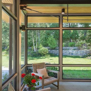 Modern Screen Porch Wellesley
