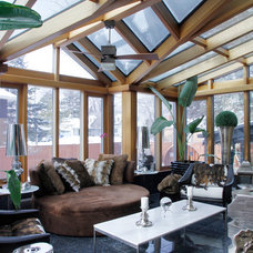 Transitional Sunroom by Esther Hershcovich