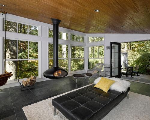 v randas et verri res avec chemin e suspendue photos et id es d co de v randas et verri res. Black Bedroom Furniture Sets. Home Design Ideas