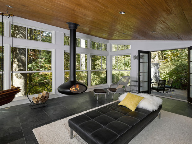 See why tile is being used in more rooms than ever for Modern sunroom designs