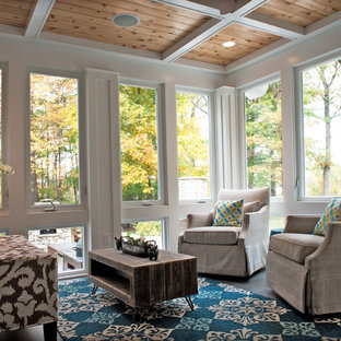 Inspiration for a timeless sunroom remodel in Boston with a standard ceiling