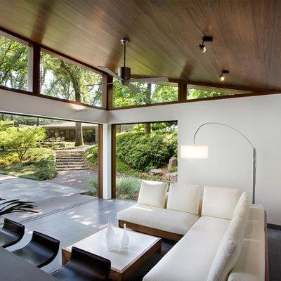Sunroom - large modern sunroom idea in Atlanta